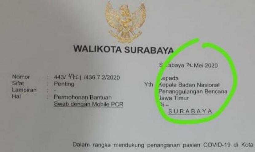 Surat Risma Minta Bantuan Swab Diduga Salah Tulis Republika Online