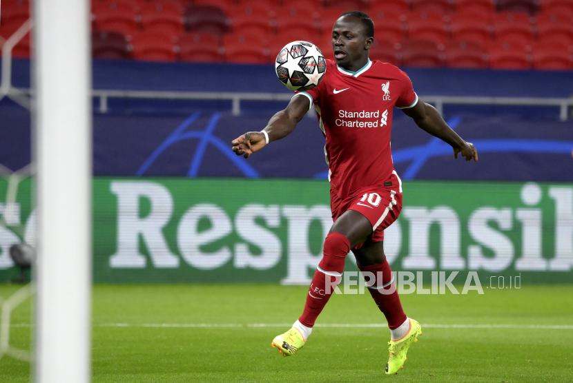 Sadio Mane mencetak gol untuk Liverpool kontra Soton.