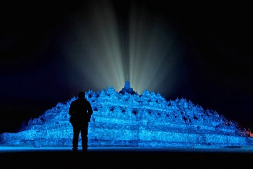 Candi Borobudur di Magelang, Jawa Tengah.   (foto : AP)