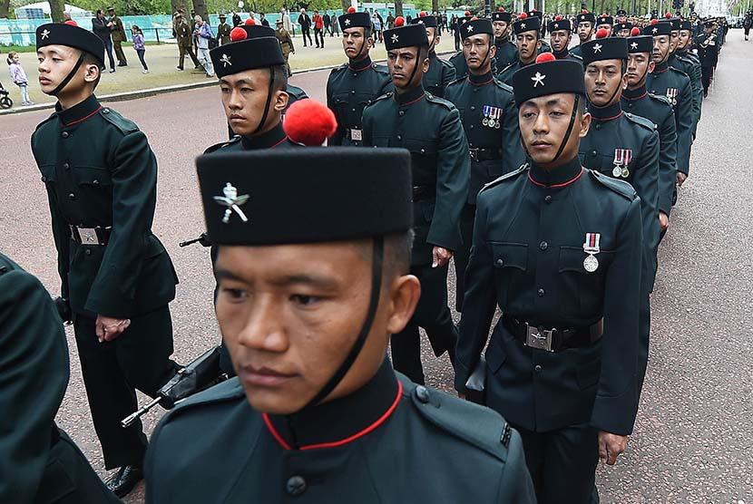 Tentara Gurkha bertempur di Surabaya pada tanggal 10 November 1945.