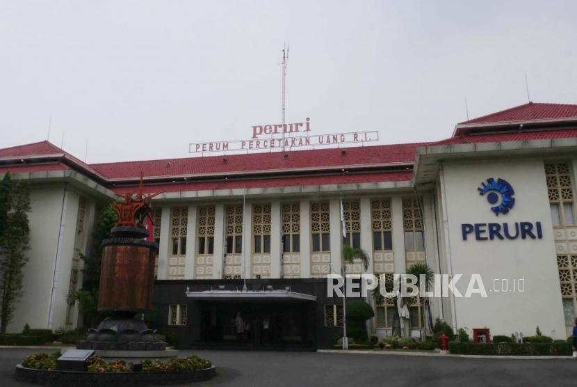 Gedung Peruri, Jakarta, Kamis (10/10).(darmawan / republika)
