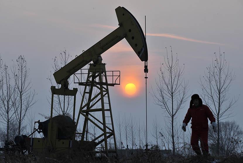 Ilustrasi harga minyak mentah dunia.