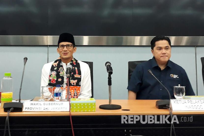 Sandiaga Salahuddin Uno dan Erick Thohir