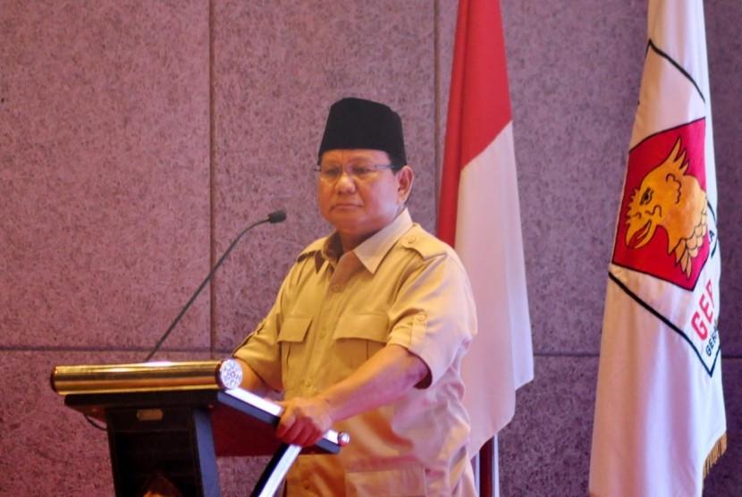 Ketua Umum (Ketum) Partai Gerindra Prabowo Subianto