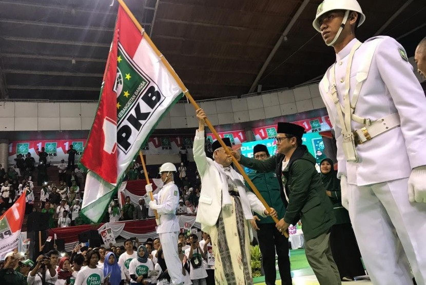 Photograph of red and white flags bearing the National Awakening Party (PKB) logo is circulating in social media.