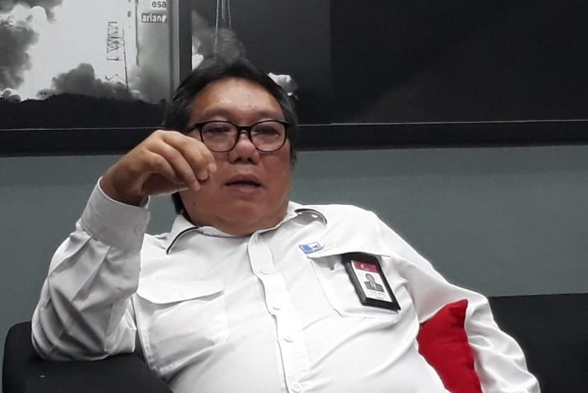 Direktur Utama PT Indra Karya (Persero) Milfan Rantawi di Ruang Media Kementerian Badan Usaha Milik Negara (BUMN), Kamis (22/11) menjelaskan mengenai bisnis lain yang tengah dijelaskan selain bergerak di bidang konsultan.