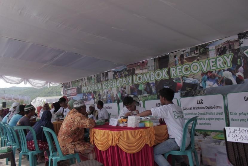 Dompet Dhuafa meluncurkan program Lombok Bangkit pada masa pemulihan pascagempa di Desa Gondang, Kecamatan Gangga, Kabupaten Lombok Utara, Nusa Tenggara Barat (NTB) pada Rabu (12/12).