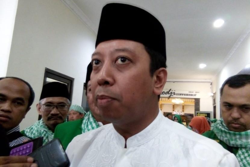 Ketua Umum Partai Persatuan Pembangunan (PPP) Romahurmuziy alias Romydi Hotel Pelangi, Kota Malang, Senin (17/12).