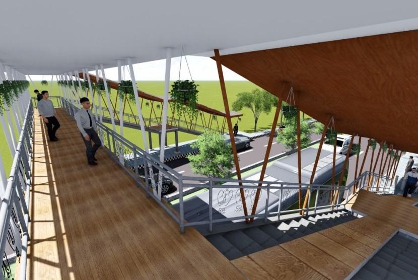 Rancangan jembatan penyeberangan ramah difabel karya mahasiswa ITS