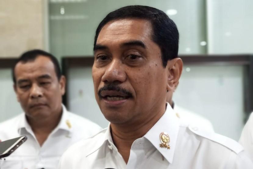 Kepala BNPT Komisaris Jenderal Suhardi Alius di Gedung DPR RI, Jakarta, Kamis (24/1).