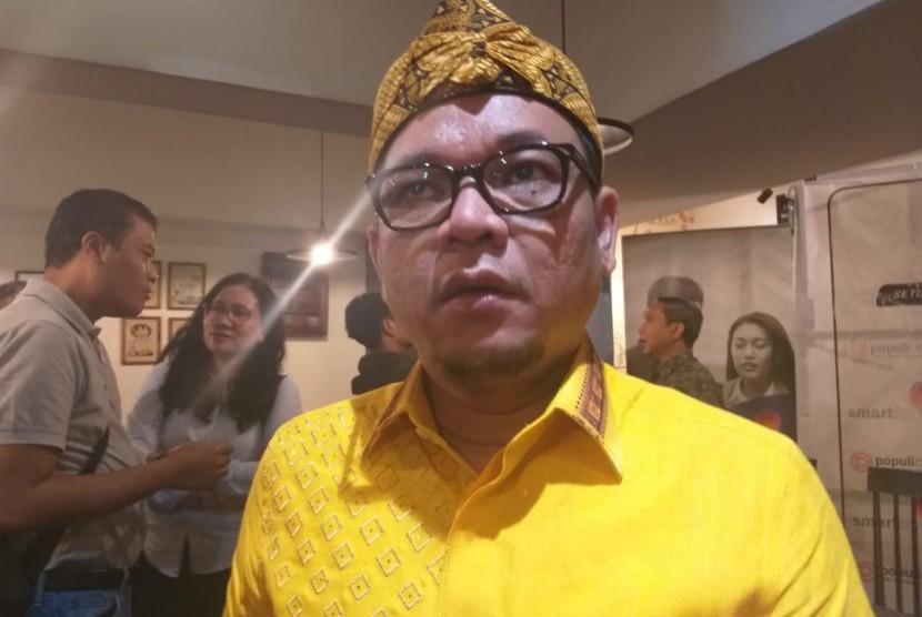 Juru BicaraTim Kampanye Nasional (TKN)Joko Widodo-KH Maruf Amin, Ace Hasan Syadzily usai acara Perspektif Indonesia di Gedung Sarinah, Jakarta Pusat, Sabtu (26/1).