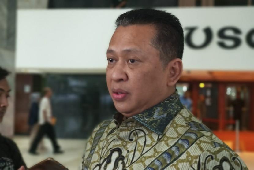 Ketua DPR RI Bambang Soesatyo, Jakarta, Kamis (31/1).
