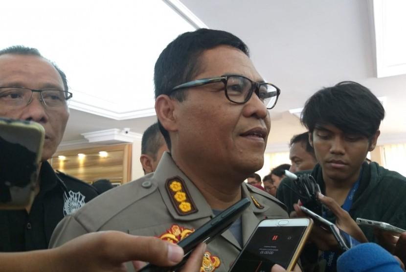 Kabid Humas Polda Metro Jaya Komisaris Besar Polisi Argo Yuwono di Mapolda Metro Jaya, Kamis (7/2).