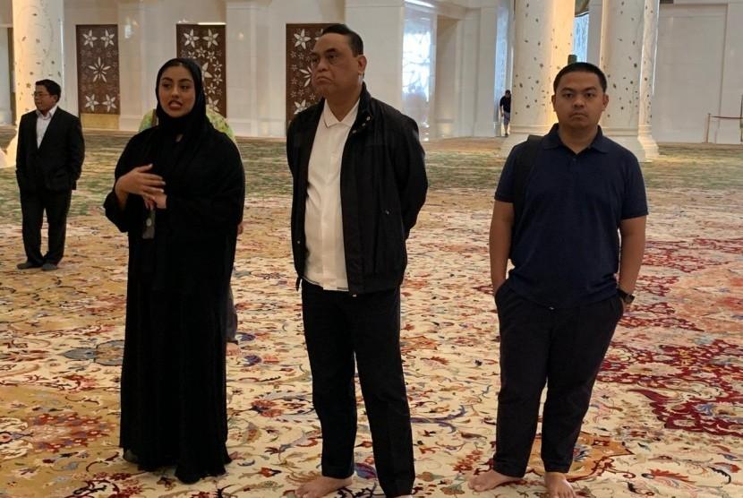 Wakil ketua DMI, Syafruddin mengunjungi Grand Mosque Abu Dhabi, Senin (11/2).