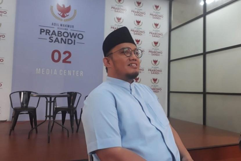 Koordinator juru bicara (Jubir) Badan Pemenangan Nasional (BPN) Prabowo-Sandiaga, Dahnil Anzhar Simanjuntak.