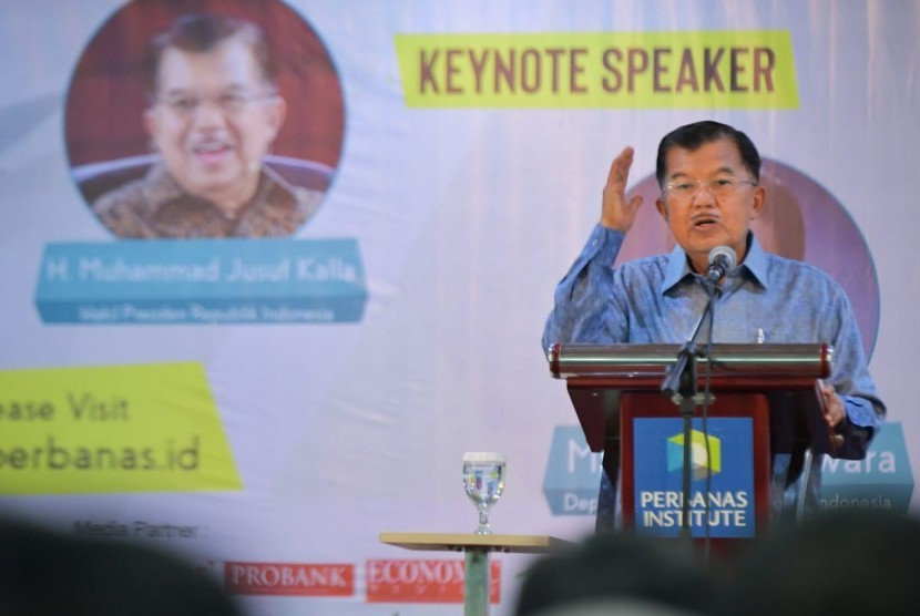 SNAP 2019: Wapres Jusuf Kalla menjadi pembicara kunci pada Seminar Nasional Perbanas Institute 2019 (SNAP 2019) yang bertajuk Rethinking of Business Model in The Innovation Era: A Consequence of Industry 4.0 di Perbanas Institute  Jl. Perbanas, Karet Kuningan, Setiabudi, K Jakarta Selatan, Rabu (27/2).