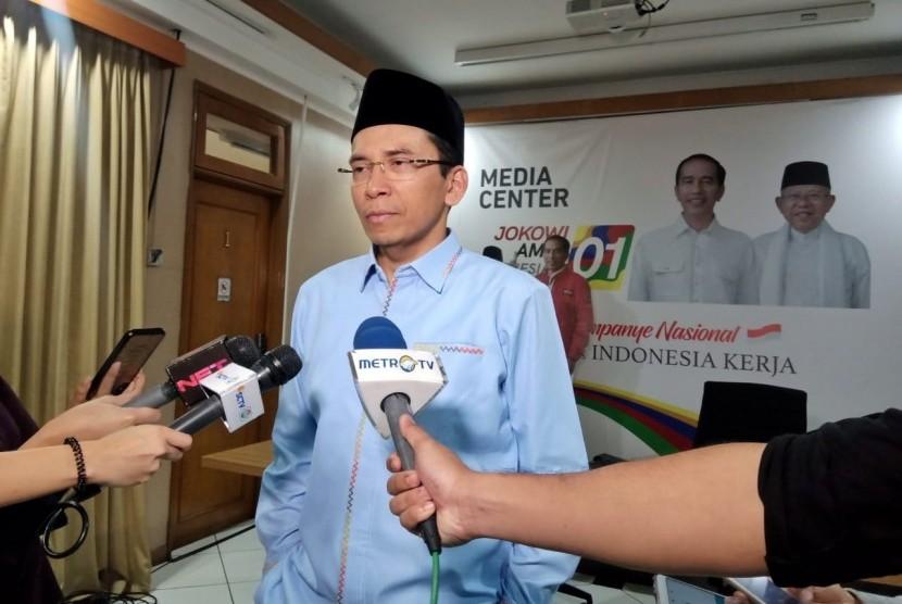 Mantan Gubernur Nusa Tenggara Barat, Muhammad Zainul Majdi atau Tuan Guru Bajang (TGB) di Posko Cemara, Menteng, Jakarta Pusat, Rabu (10/4).