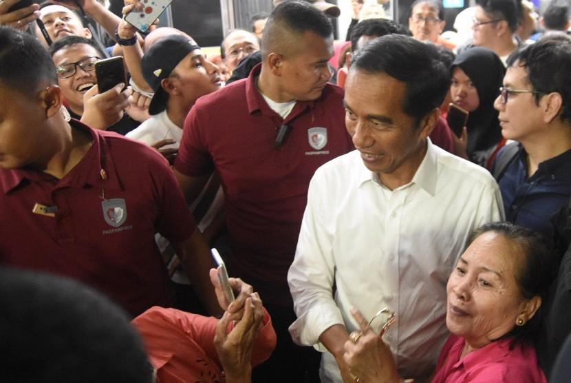 Calon Presiden petahana nomor urut 01 Joko Widodo