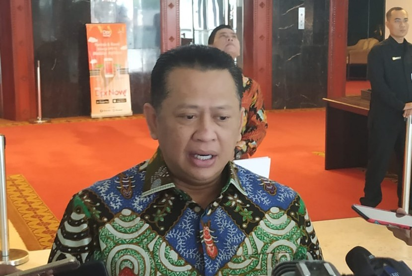 Ketua DPR RI Bambang Soesatyo di Kompleks Parlemen Senayan, Jakarta, Rabu (15/5).