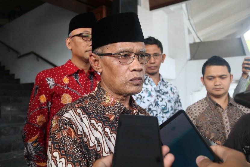 Ketua Umum PP Muhammadiyah, Haedar Nashir menghadiri kajian Ramadhan di  Universitas Muhammadiyah Malang (UMM), Sabtu (18/5).