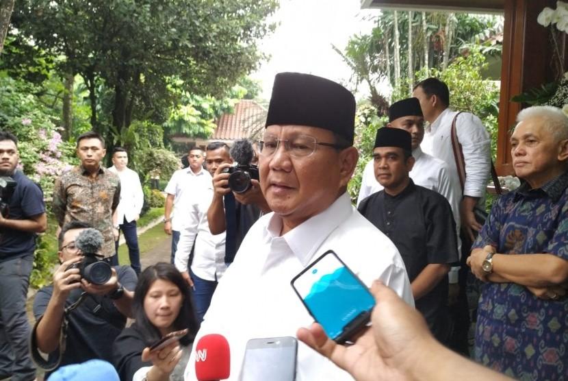Calon presiden (capres) Prabowo Subianto.