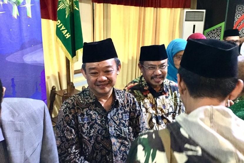 Sekretaris Umum Pimpinan Pusat (PP) Muhammadiyah Abdul Muti halal bihalal dengan seluruh jajaran Muhammadiyah pusat maupun daerah di gedung Pimpinan Pusat Muhammadiyah, Senin (17/6).