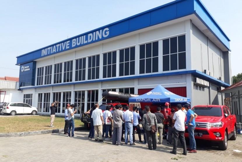 Pelatihan Wartawan liputan bencana dan daerah konflik di Human Initiative di Cimanggis, Kota Depok, Rabu (3/7/2019).