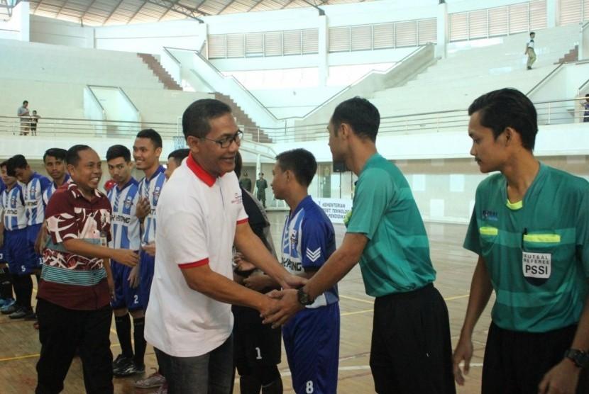 Badan Pembina Olahraga Mahasiswa Indonesia (BAPOMI) Jawa Timur memberi  mandat Universitas Muhammadiyah Malang (UMM) sebagai panitia penyelenggara  Pekan Olahraga Mahasiswa (POMDA) Futsal.