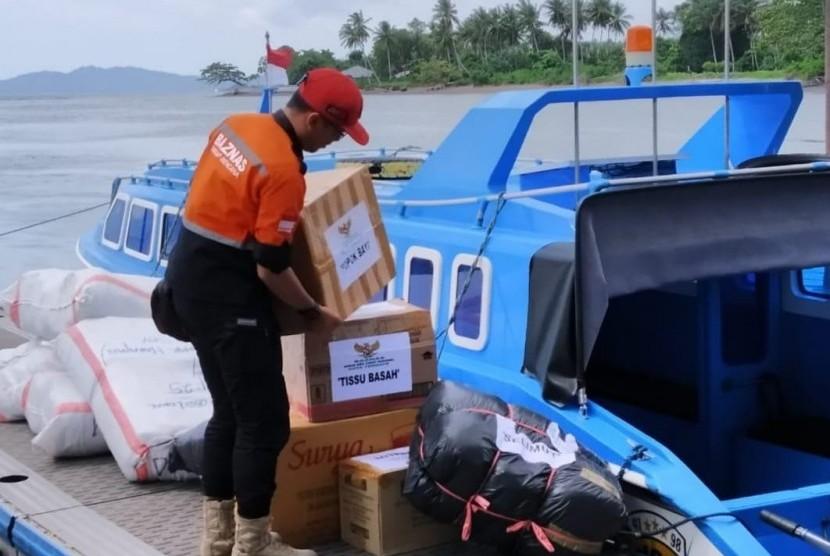 Badan Amil Zakat Nasional (Baznas) menerjunkan tim untuk membantu dan melayani korban terdampak gempa bumi dengan magnitudo 7,2  di Kabupaten Halmahera Selatan, Maluku Utara