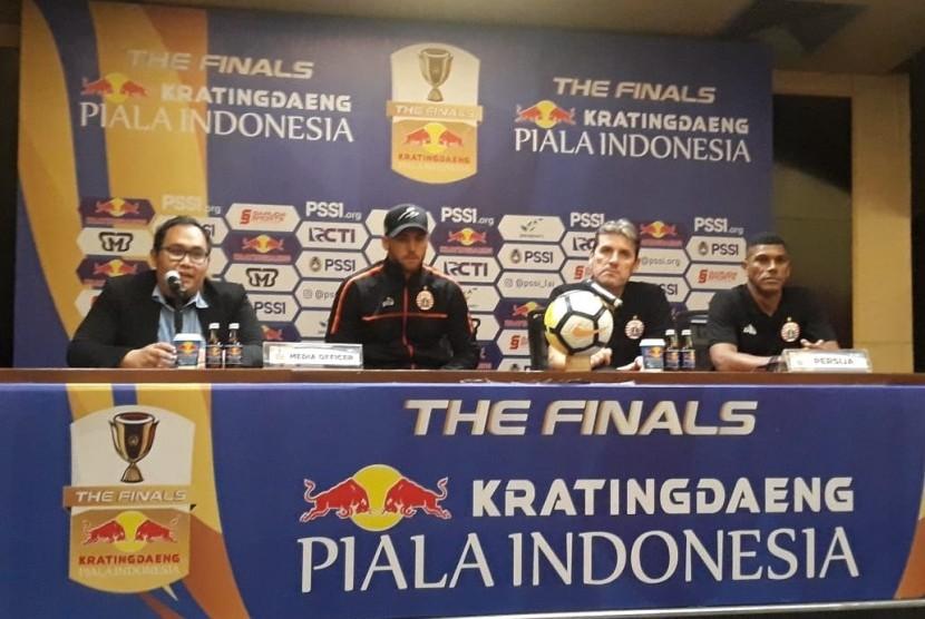Konferensi Pers Persija Jakarta (Marko Simic dan Julio Banuelos) jelang laga leg pertama Final Piala Indonesia di Stadion Utama Gelora Bung Karno (SUGBK), Sabtu (20/7).