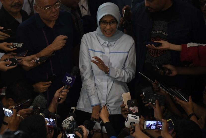 PLN's acting president director Sripeni Inten Cahyani in Jakarta, August 6, 2019.