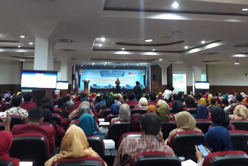 Menteri Sektetaris Negara (Mensesneg) RI, Profesor Pratikno menjadi  pembicara dalam konvensi nasional ilmu-ilmu sosial di Universitas  Muhammadiyah Malang (UMM), Kamis (8/8)