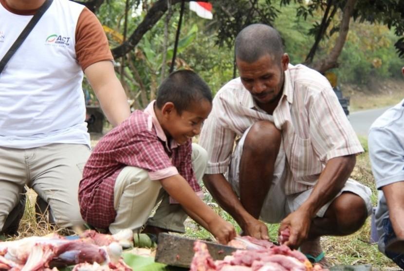 Global Qurban ACT tebar kebahagiaan kurban pada masyarakat Kabupaten  Manggarai Timur, Nusa Tenggara Timur (NTT)