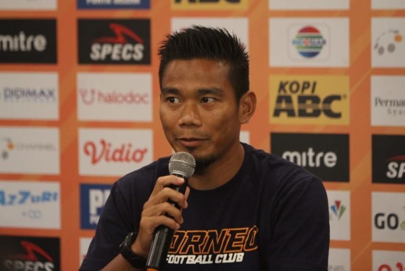 Pemain Borneo FC, Wildansyah di Graha Persib, Jalan Sulanjana, Kota Bandung, Selasa (13/8).