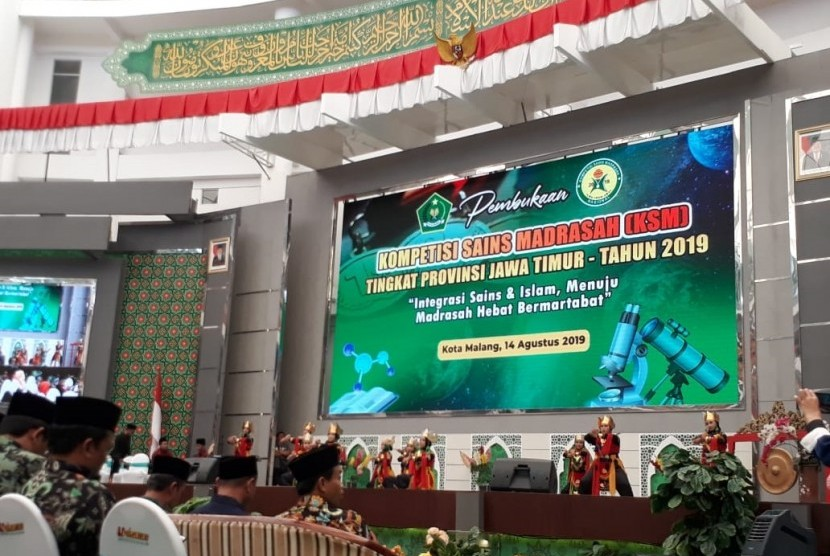 Ribuan siswa mengikuti Kompetisi Sains Madrasah (KSM) se-Jawa Timur di Universitas Islam Malang (Unisma), Rabu (14/8).