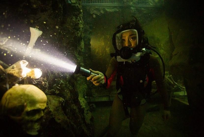 Adegan dalam film '47 Meters Down: Uncaged'.