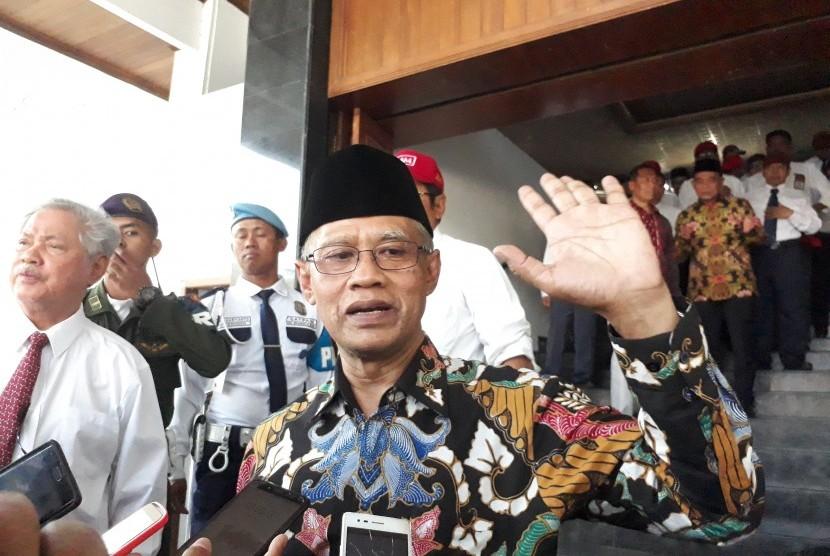 Ketua Umum PP Muhammadiyah, Haedar Nasir memberikan kuliah umum kepada  ribuan mahasiswa baru Universitas Muhammadiyah Malang (UMM) di Hall Dome  UMM, Senin (2/9).
