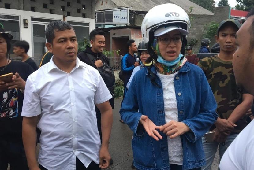 Tangsel Perpanjang Masa Tanggap Darurat Corona. Wali Kota Tangerang Selatan Airin Rachmi Diany (kanan).