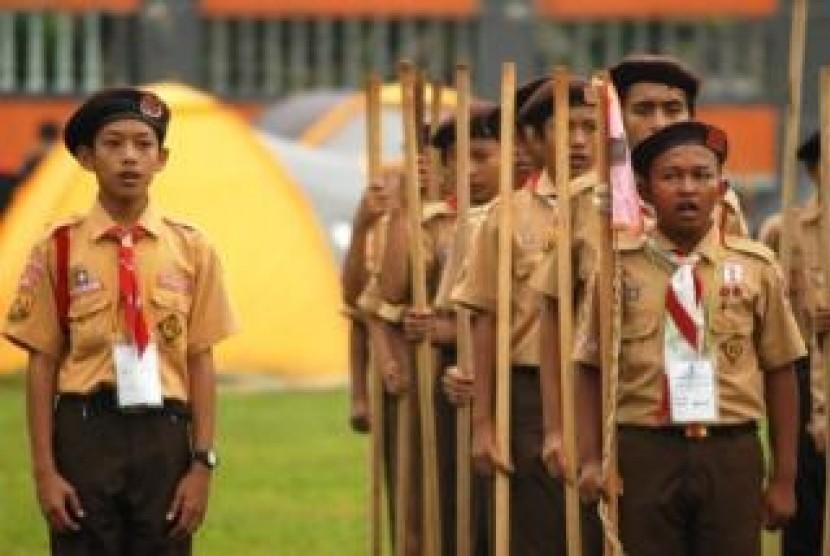 500 Penggalang Muslim Ikuti Kompetisi Pramuka.