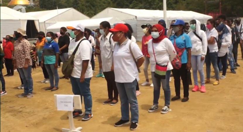 680 relawan konsumsi disiapkan untuk melayani konsumsi atlet dan official yang berlaga di PON XX Papua.