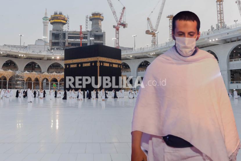 Arab Saudi akan Adakan Haji dalam Kondisi Khusus Covid-19. Foto: Ilustrasi Jamaah haji dan umroh pakai masker di masa pandemi covid-19