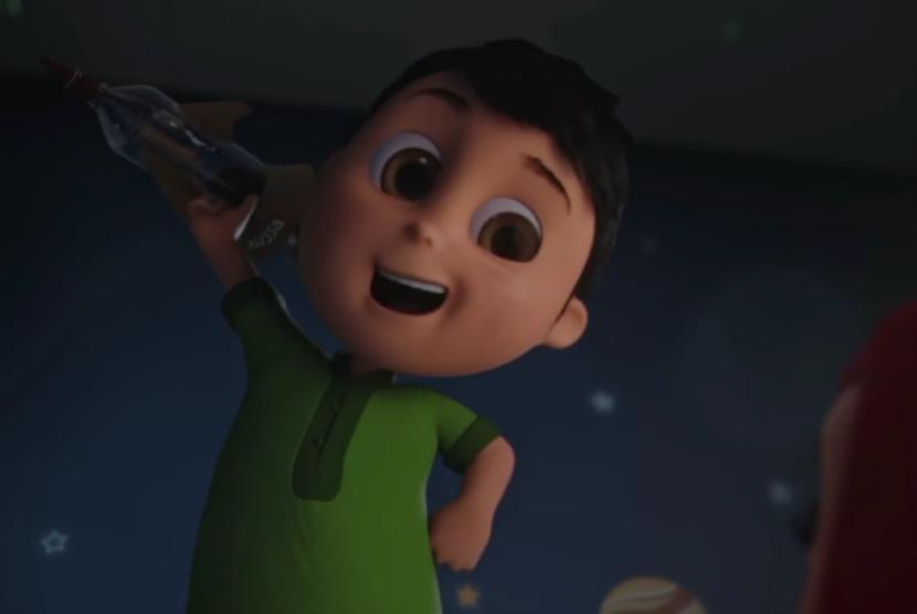 Karakter Nussa dalam film animasi Nussa produksi Visinema Pictures.