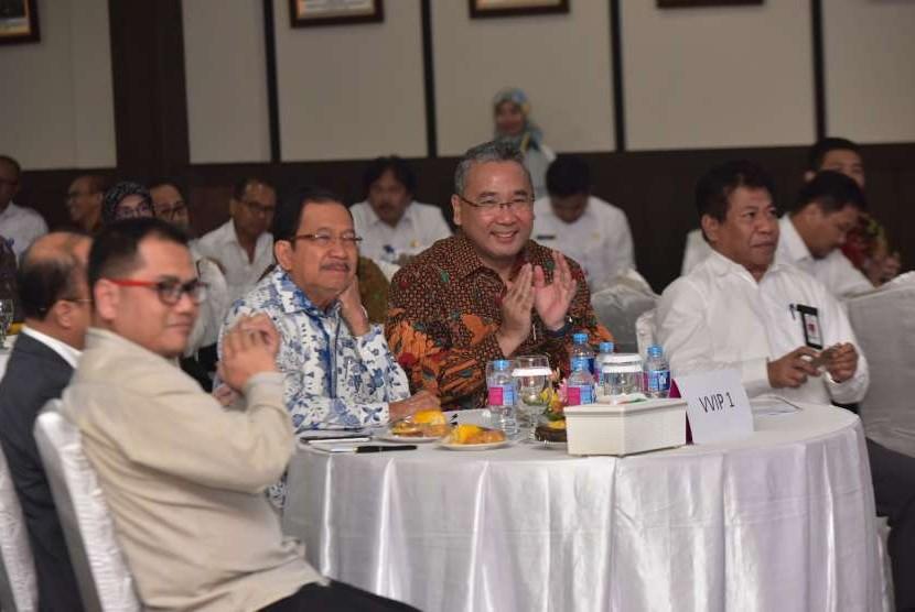 acara Ministerial Lecture Leadership Strategic Management Coaching Executive Development rogram di Kantor Kemendes PDTT, Jakarta, Rabu (8/8).