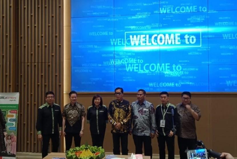 Acara peluncuran produk asuransi Smile Ultimate Link Syariah di Jakarta, Sabtu (21/7).