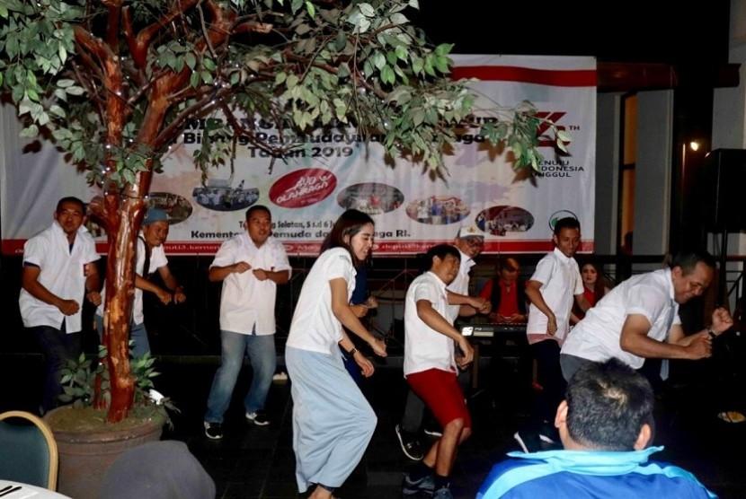 Acara Team Building Deputi 3 Kemenpora yang digelar di Hotel Aryaduta Lippo Village, Tangerang, pada 5-6 Juli 2019.