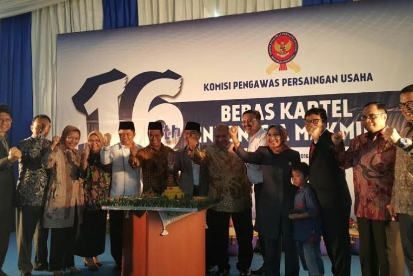 Acara ulang tahun ke-16 Komisi Pengawas Persaingan Usaha (KPPU) yang mengangkat tema  Bebas Kartel Indonesia Makmur'.