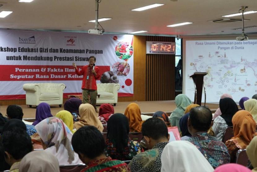 "Acara ""Workshop Edukasi Gizi dan Keamanan Pangan: Fakta Ilmiah & Peranan Rasa Dasar Ke-5 (Umami), untuk Meningkatkan Asupan Gizi"", yang dilaksanakan pada Selasa (9/7)."