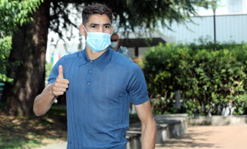 Pemain belakang Inter Milan, Achraf Hakimi.