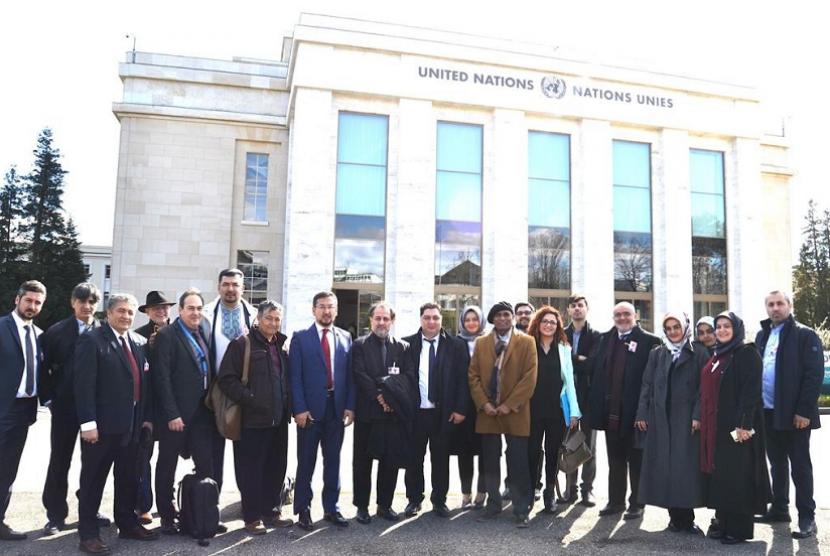 ACT menghadiri Konferensi Hak Asasi Manusia Internasional Uighur 40th Session Human Rights Council di Kantor Perserikatan Bangsa Bangsa di Jenewa, Swiss.