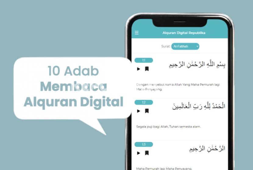 Adab membaca Alquran digital